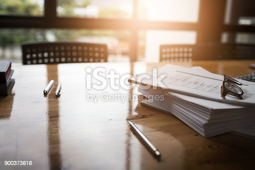 istock Taxpayer's desk and excise documents to import and export 900373616