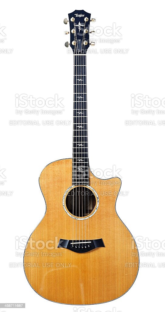 Taylor acoustic guitar stock photo