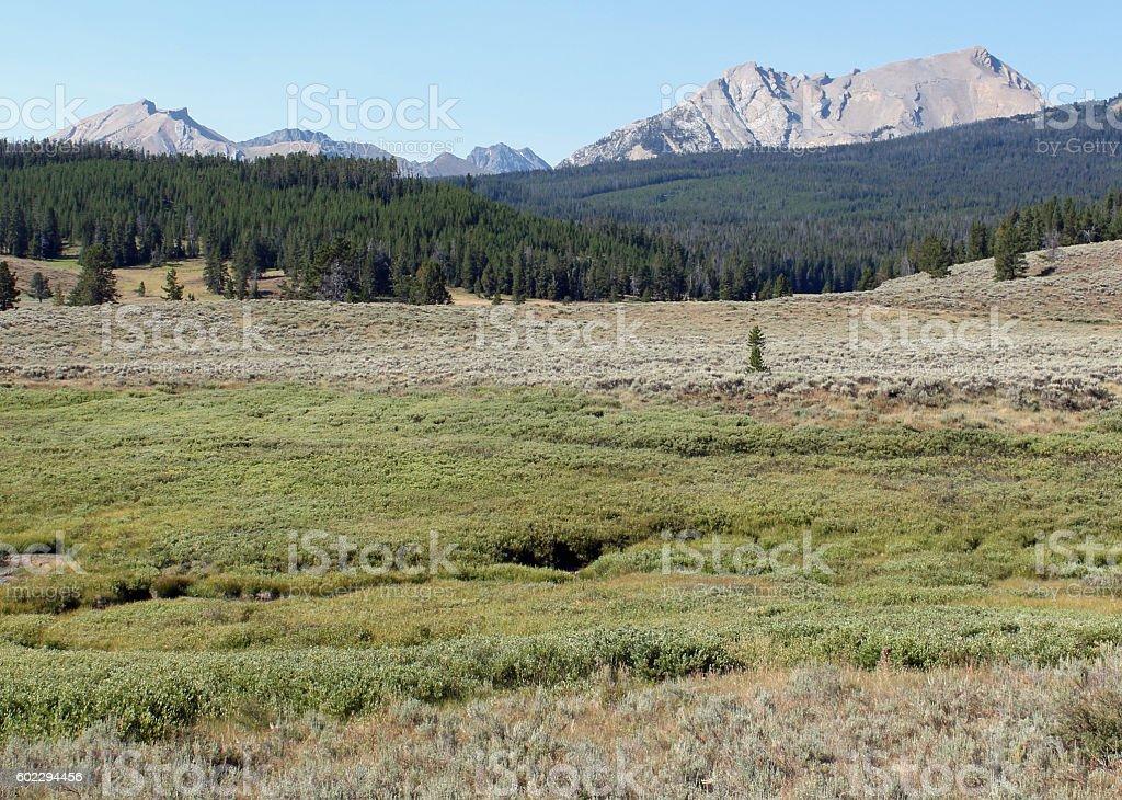 Taylor Peaks, Montana stock photo
