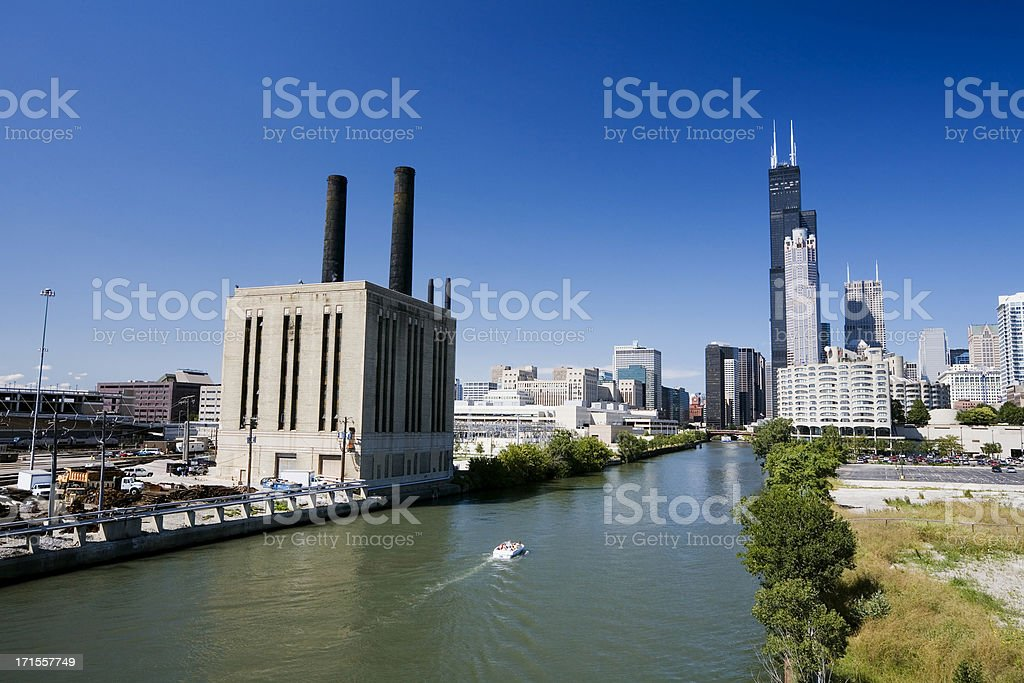 Taylor Street Power Station, Chicago royalty-free stock photo