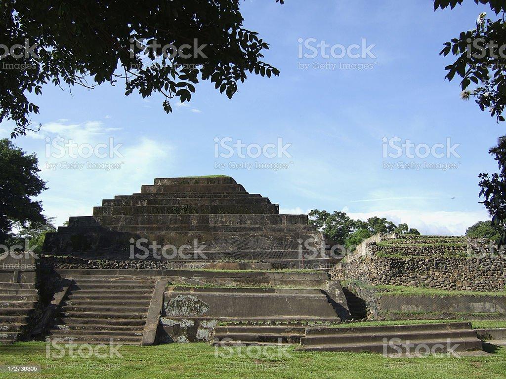 Tazumal Mayan Ruins in El Salvador stock photo
