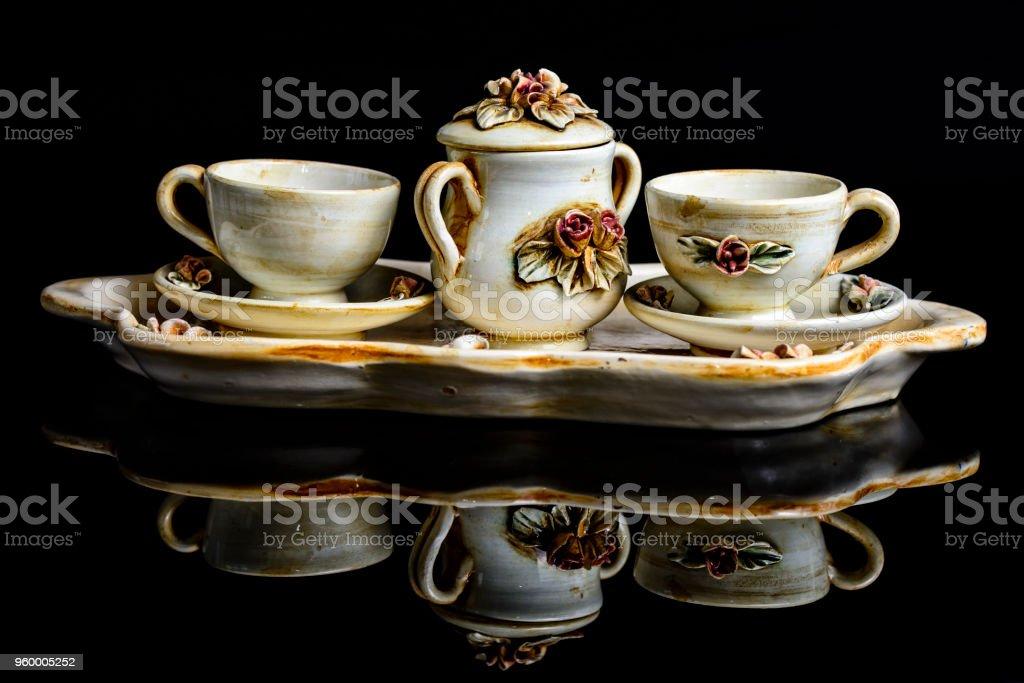 tazzine caffe stock photo