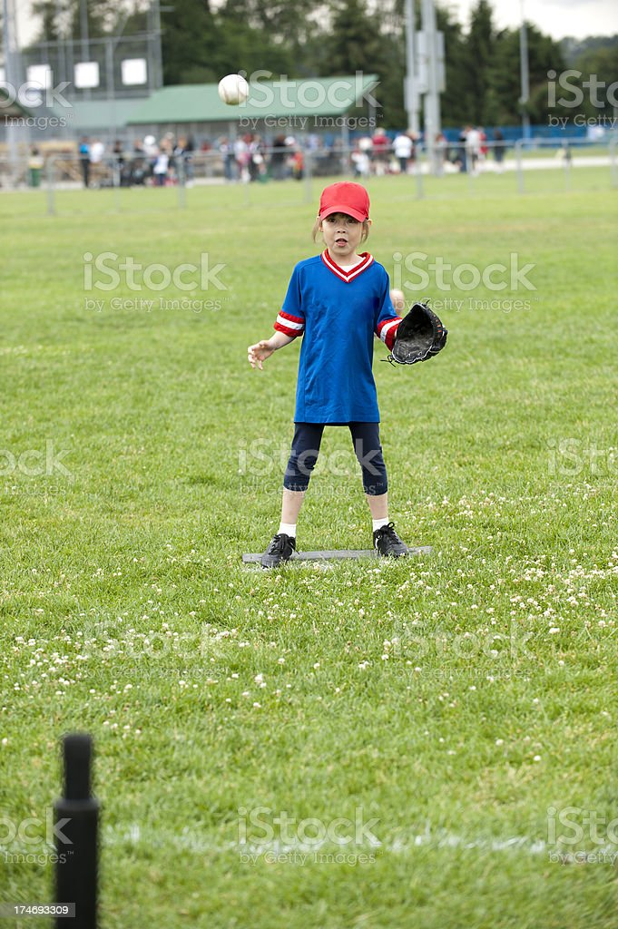 T-Ball Action stock photo
