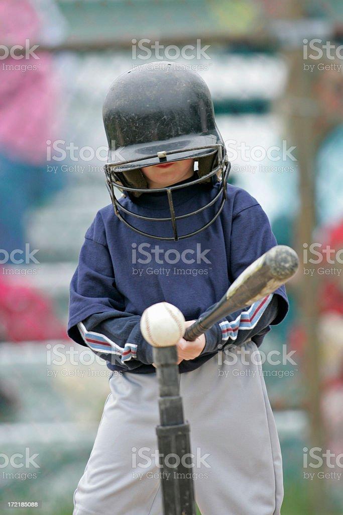 T-Ball Batter stock photo