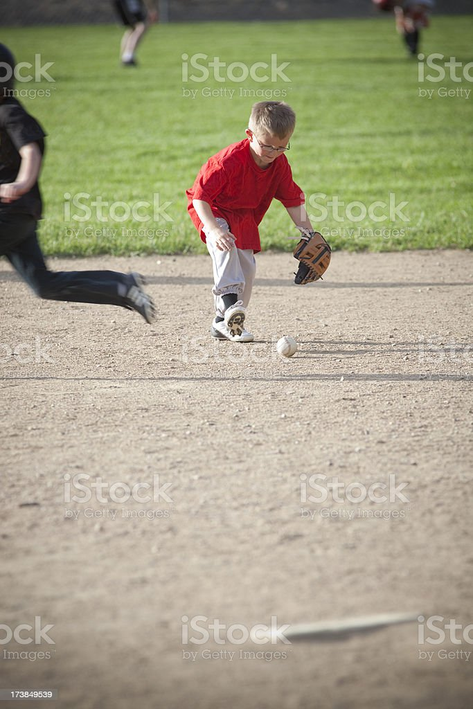 T-ball game stock photo