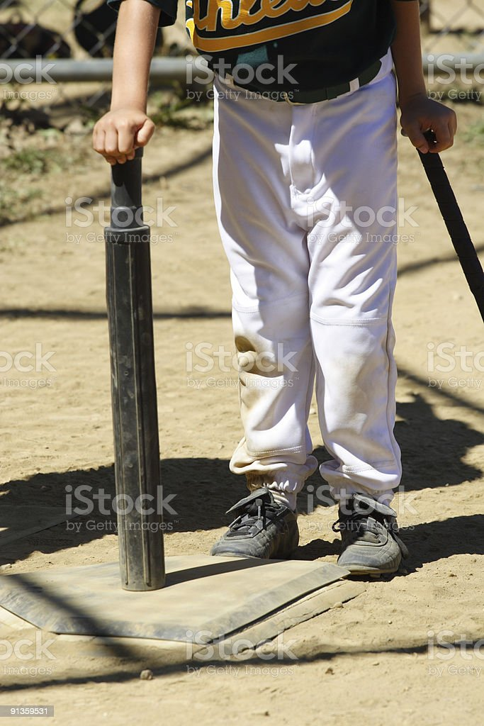 T-Ball Player - Batter Up! stock photo