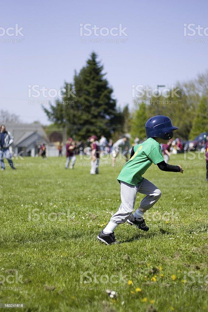 T-Ball Runner stock photo