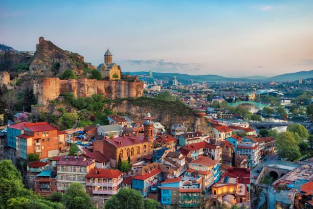 Tbilisi Downtown, Georgia, taken in April 2019 stock photo