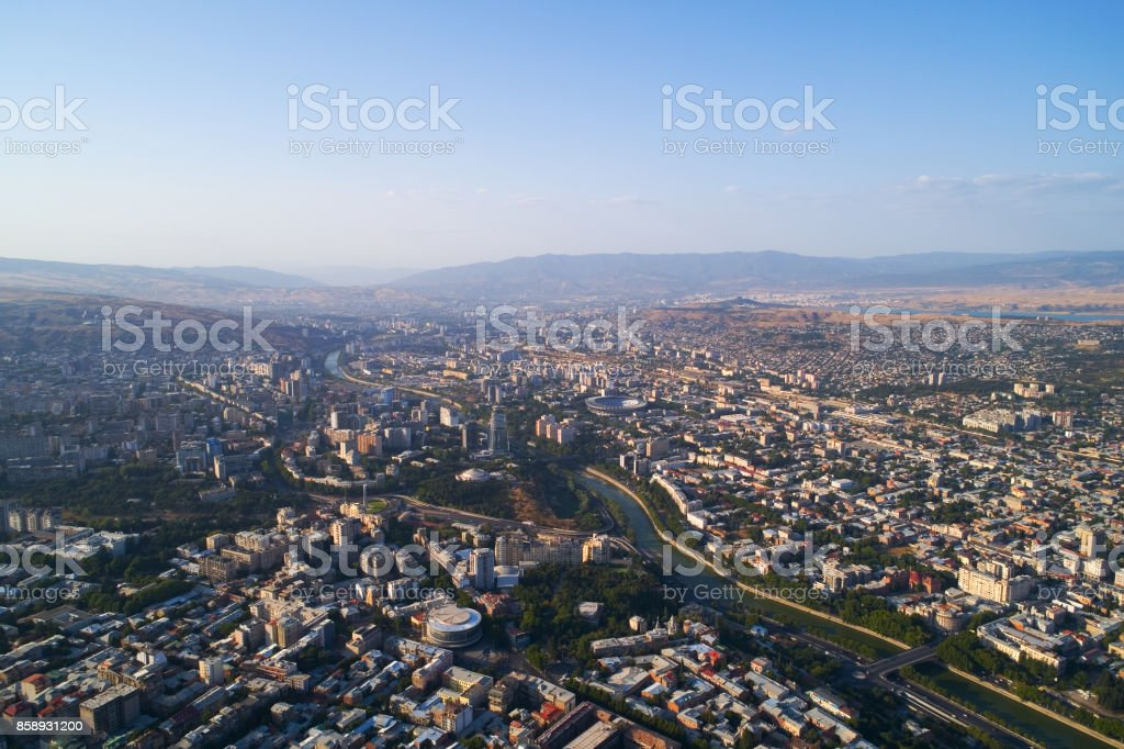 Tbilisi from the heights. stock photo
