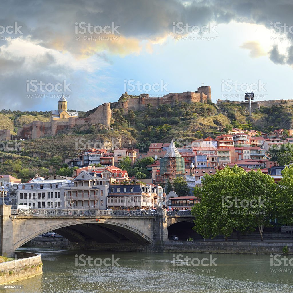 Tbilisi Old Town stock photo
