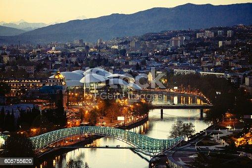 Cityscape of Tbilisi - the capital of Georgia