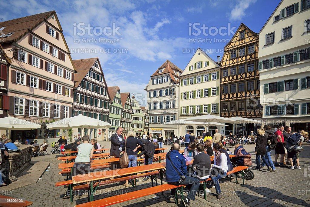 Tübingen am Neckar in Germany royalty-free stock photo