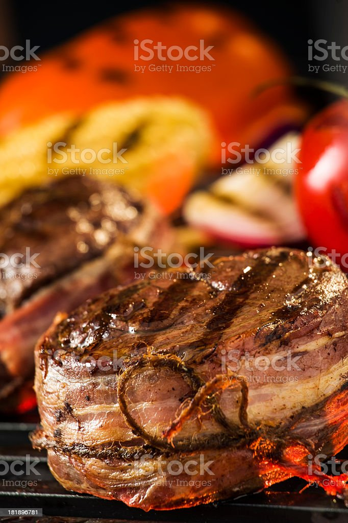 T-Bone Steak and Filet Mignon royalty-free stock photo