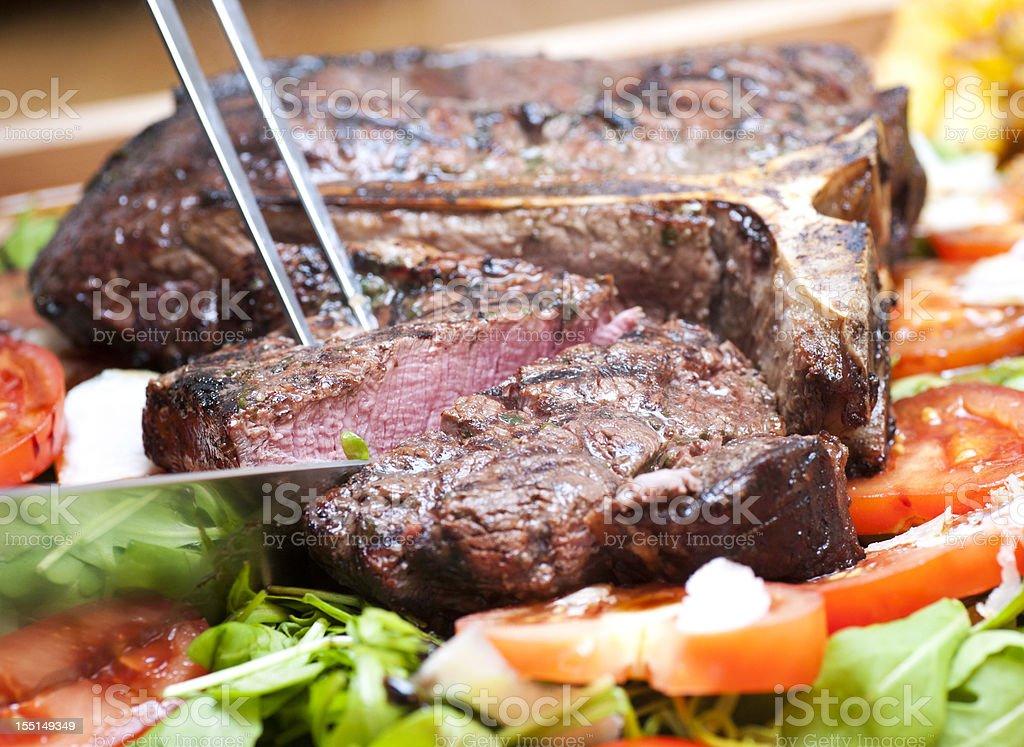 t-bone steak, medium royalty-free stock photo