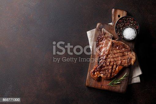 916096852 istock photo T-bone steak 855771300
