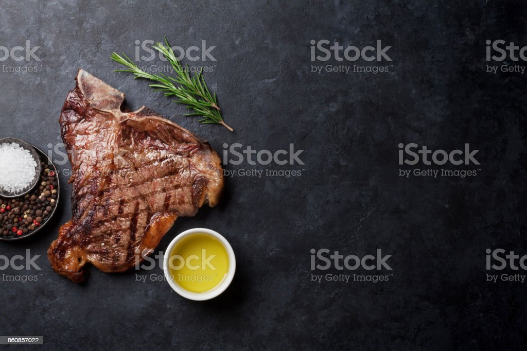 T-bone steak - foto de acervo