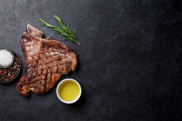 T-bone steak - foto de stock