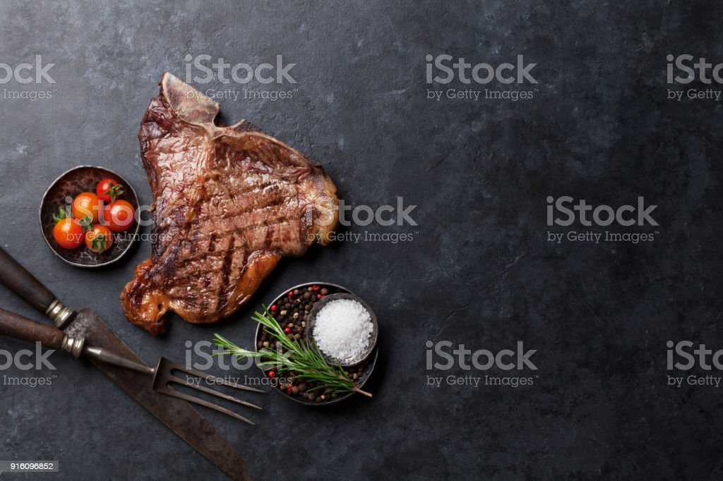 T-bone steak royalty-free stock photo