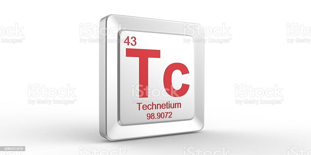 Tc Symbol 43 Material For Technetium Chemical Element Stock Photo