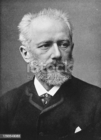 Portrait of the famed Russian composer Pyotr Ilyich Tchaikovsky.