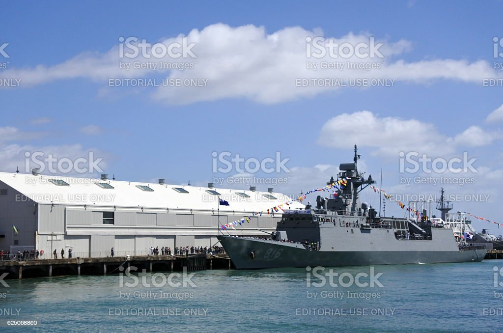 HMNZS Te Kaha (F77) stock photo