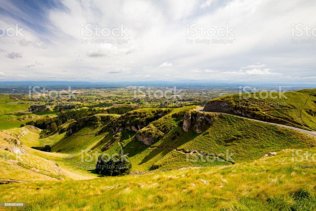 Te Mata Peak View New Zealand stock photo