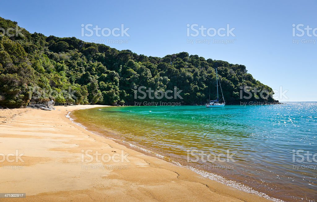Te Pukatea Bay in Abel Tasman National Park stock photo
