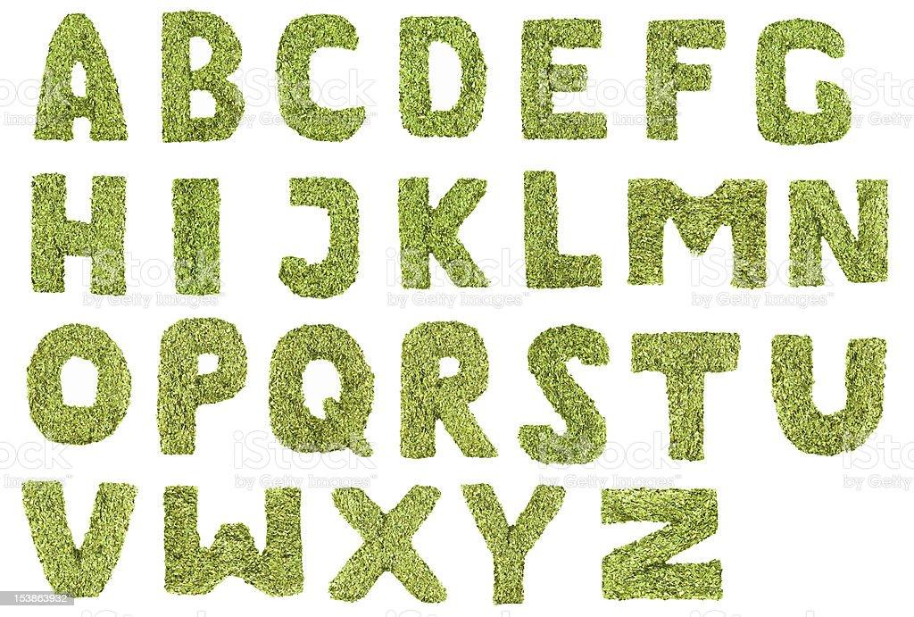 Tea alphabet mate royalty-free stock photo