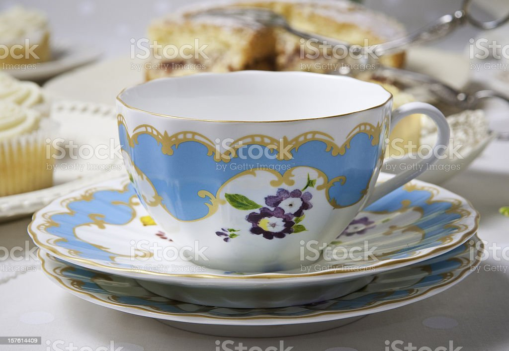 Tea and cake. royalty-free stock photo