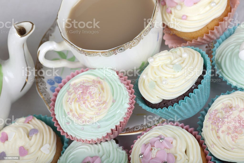 Tea and Cakes royalty-free stock photo