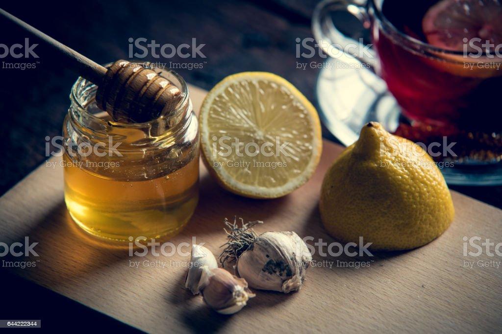 Tea and cinamon stock photo