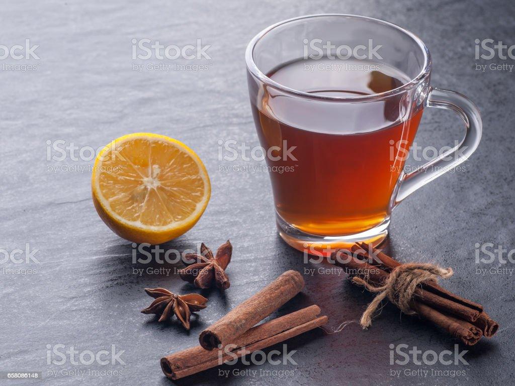 tea and cinnamon royalty-free stock photo