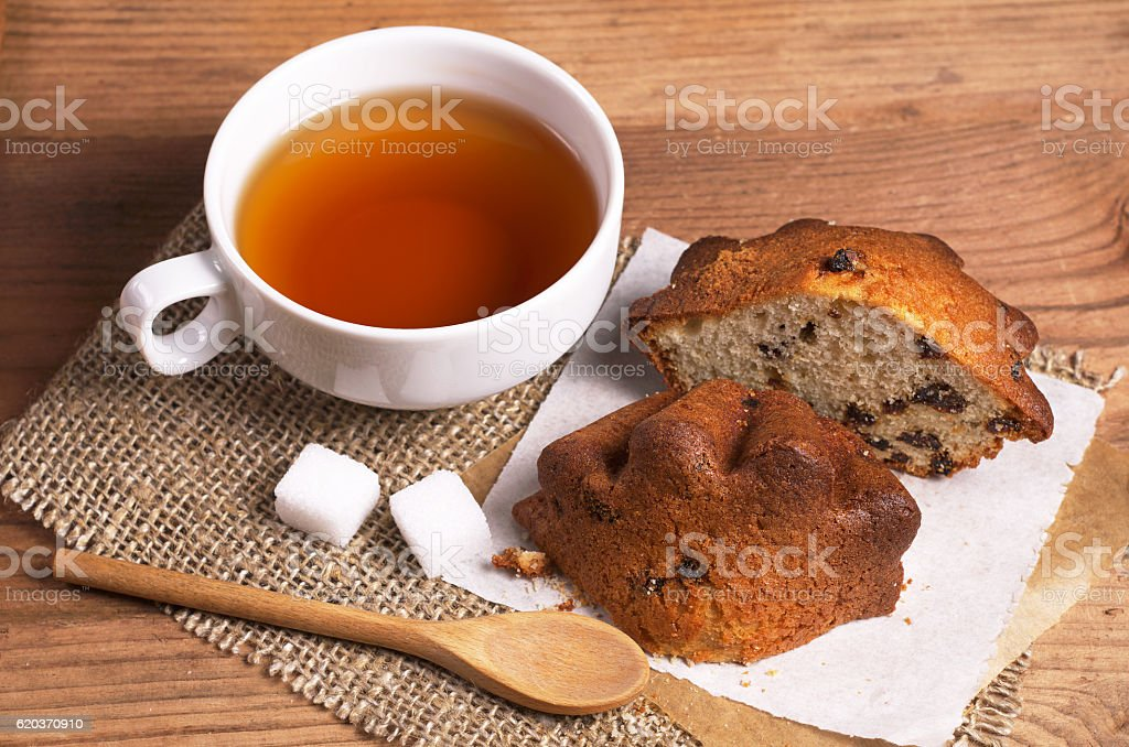 Tea and cupcake foto de stock royalty-free