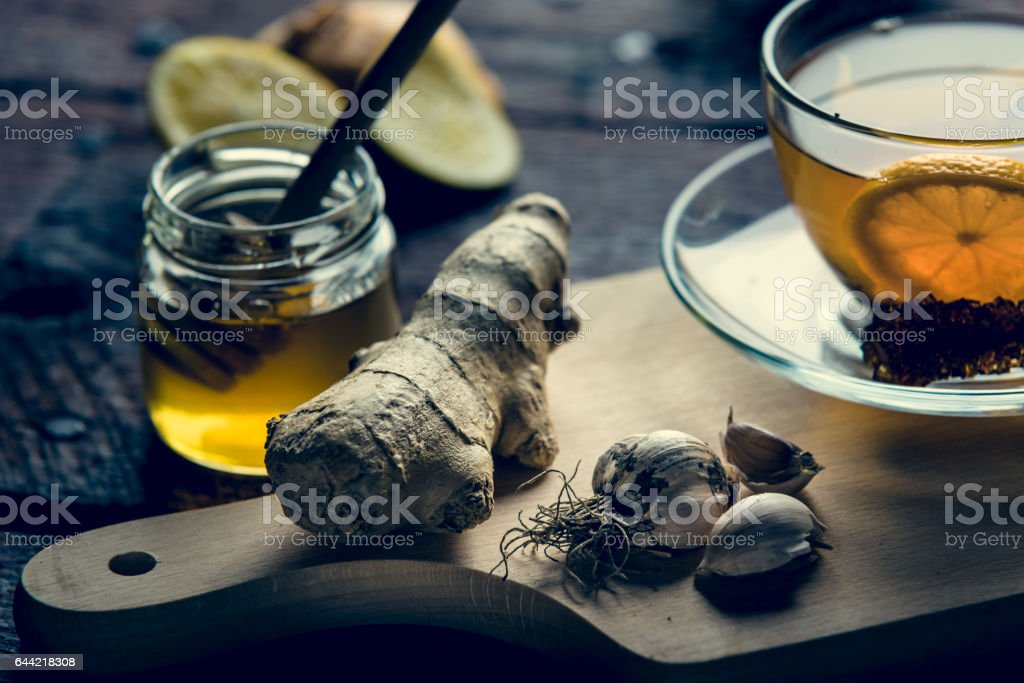 Tea and ginger stock photo