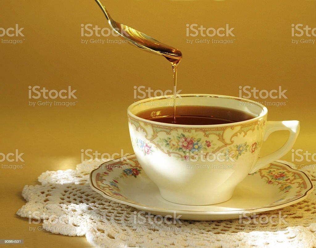 Tea and Honey royalty-free stock photo