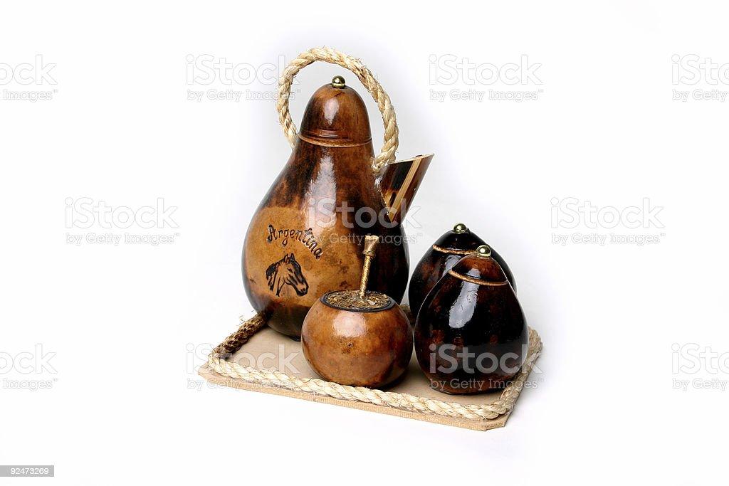 Tea and mate set royalty-free stock photo