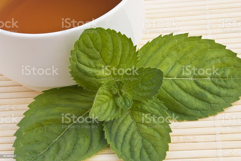 tea and mint royalty-free stock photo
