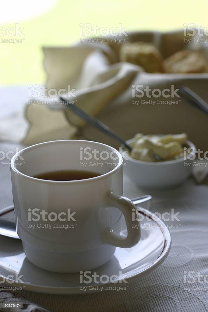 Tea and Scones royalty-free stock photo