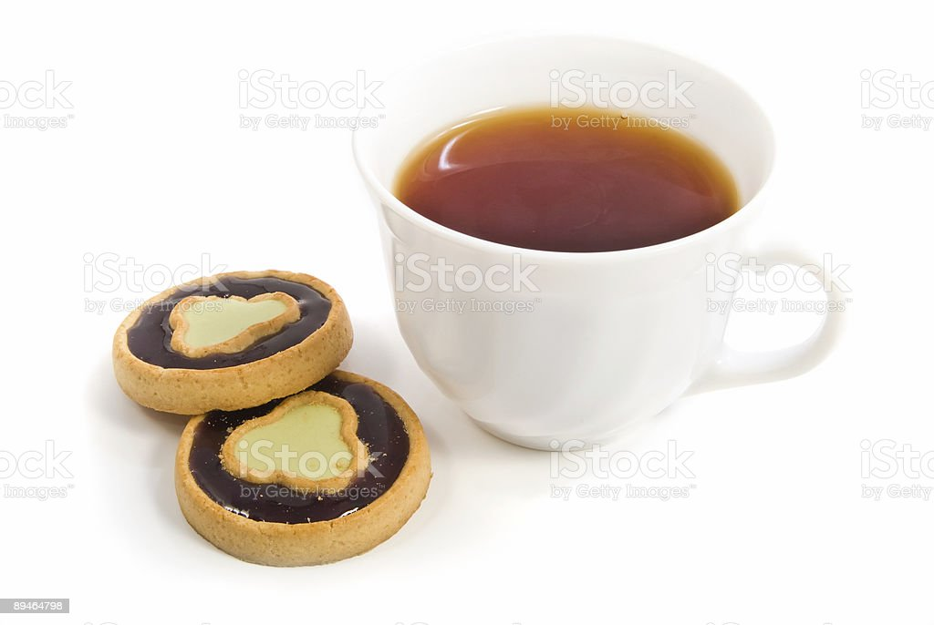tea and some sweet bakery royalty-free stock photo