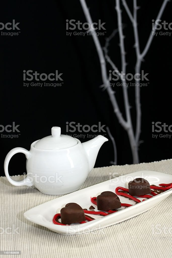 Tea and Sweets royalty-free stock photo