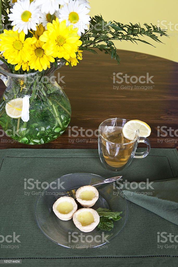 Tea and Tarts royalty-free stock photo