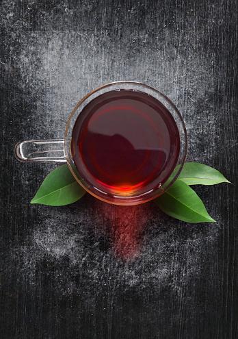 Tea and tea leaves