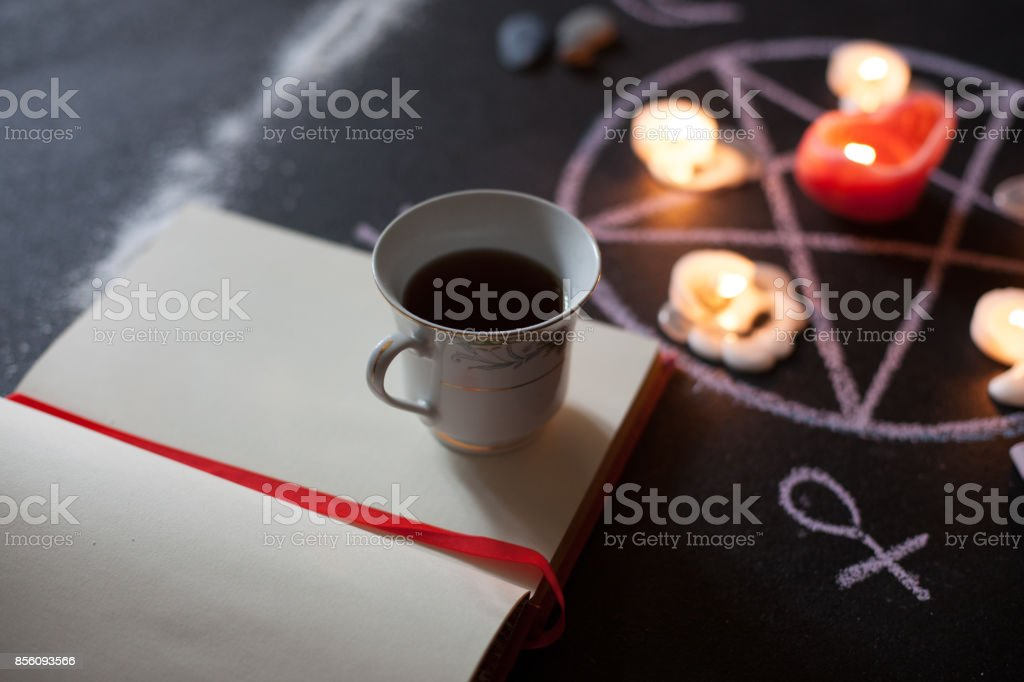 Tea and Witchcraft stock photo