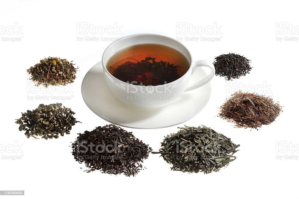 Tea assortment stock photo