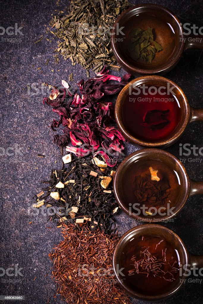 tea assortment stock photo