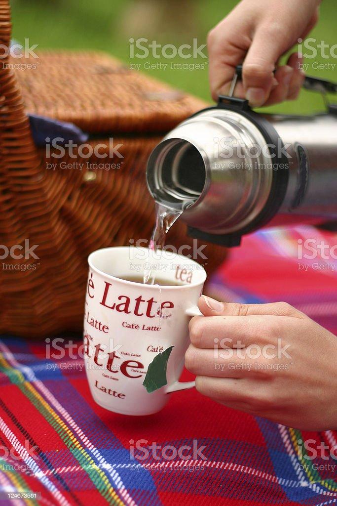 Tea at The Picnic royalty-free stock photo