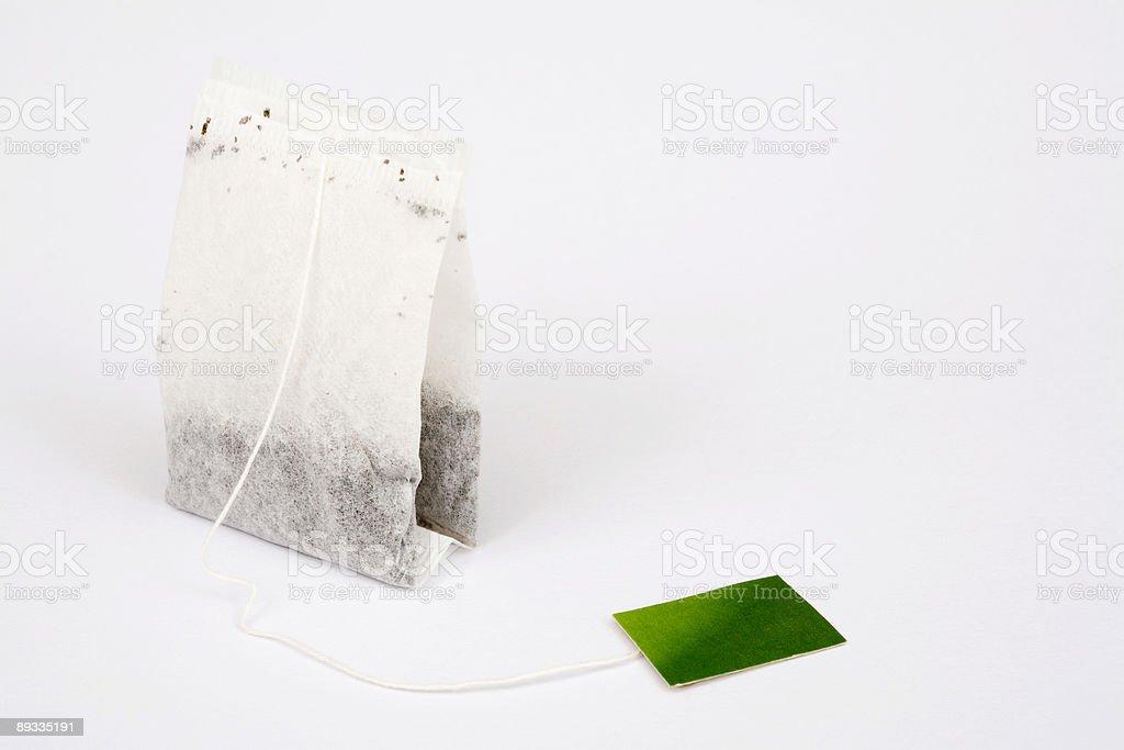 Tea bag isolated royalty-free stock photo