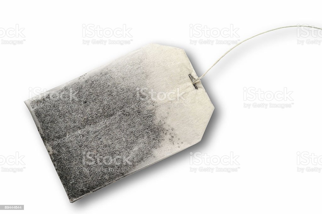 Tea bag with clipping path royalty-free stock photo