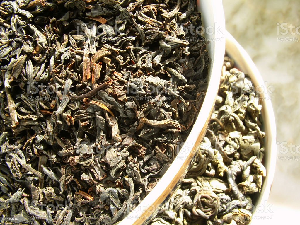 tea - black & green royalty-free stock photo