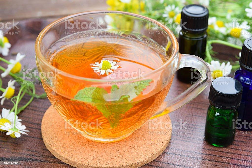 tea break at beauty salon stock photo
